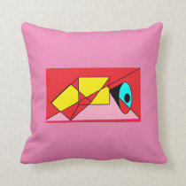Pinks and Red abstract pillow