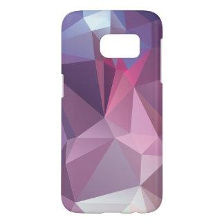 Pinks Blues Abstract Pyramid Pattern Art Samsung Galaxy S7 Case
