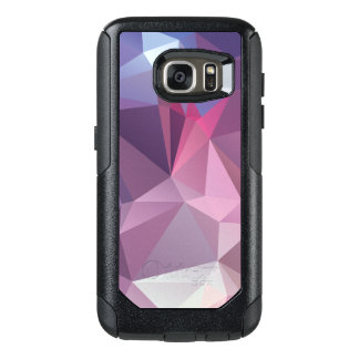 Pinks Blues Abstract Pyramid Pattern OtterBox Samsung Galaxy S7 Case