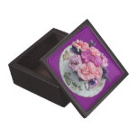 Pinks carnations in teacup premium gift box