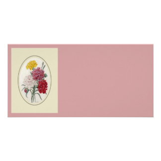 Pinks In A Classic Oval Mount Card