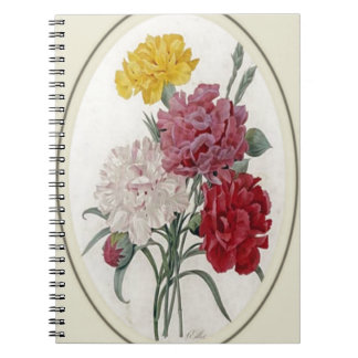 Pinks In A Classic Oval Mount Spiral Notebook