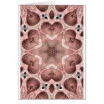 pinks kaleidoscope greeting cards