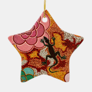 Pinks of the desert ceramic ornament