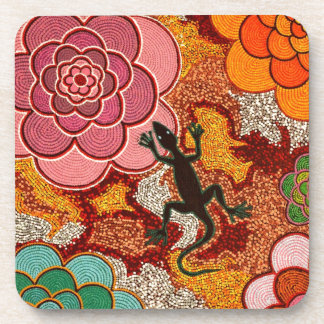 Pinks of the desert beverage coaster