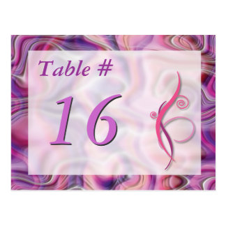 PINKS Table Number Card
