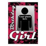 PinkSplat Birthday Girl Card