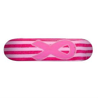 Pinkstripe Ribbon Skteboard Skateboard