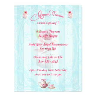 PinkTea Rose Cupcakes Flyers