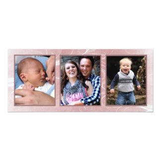 Pinktone Christmas Triple Photo Photo Cards