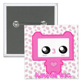 Pinku Mecha 2 Inch Square Button