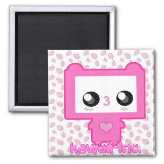 Pinku Mecha 2 Inch Square Magnet