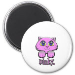 pinky 2 inch round magnet
