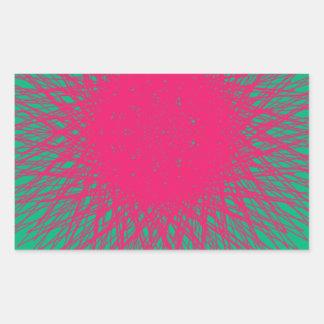 pinky abstract rectangular sticker