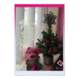Pinky Boo's Xmas Invitation card 9 Cm X 13 Cm Invitation Card