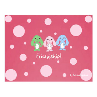 Pinky Bunny & Friends Postcard