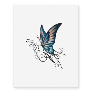 pinky butterfly temporary tattoo