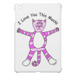 """Pinky Cat """"I Love You This Much"""" Case For The iPad Mini"""