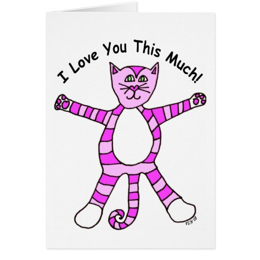 Pinky Cat Valentine's Day Card