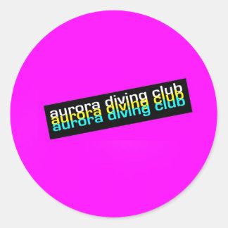 pinky classic round sticker