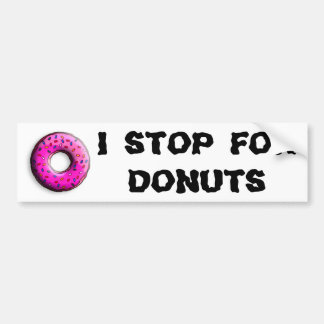 Pinky Donut with colorful sprinkles + your ideas Car Bumper Sticker