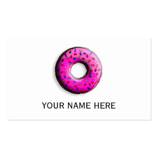 Pinky Donut with colorful sprinkles + your ideas Business Card