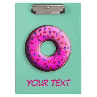 Pinky Donut with colorful sprinkles + your ideas Clipboard