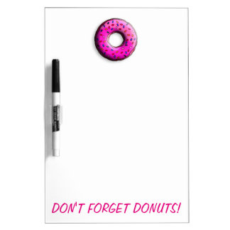 Pinky Donut with colorful sprinkles + your ideas Dry-Erase Board