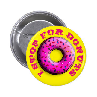 Pinky Donut with colorful sprinkles + your ideas Pinback Button