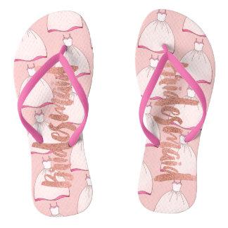 Pinky Dress Bridemaids Footwear Flip Flops