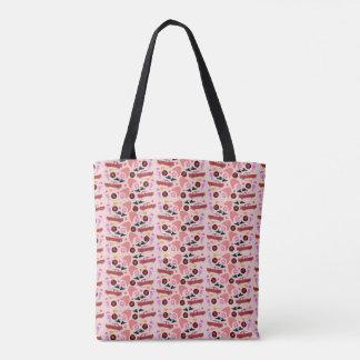 Pinky Fab Fifties Time Tote Bag