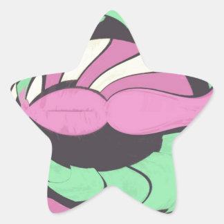 PINKY GREEN STAR STICKER