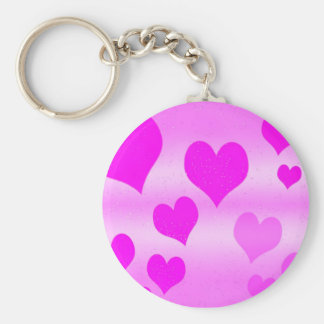 Pinky Basic Round Button Keychain