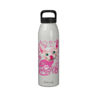 pinky kitty drinking bottle