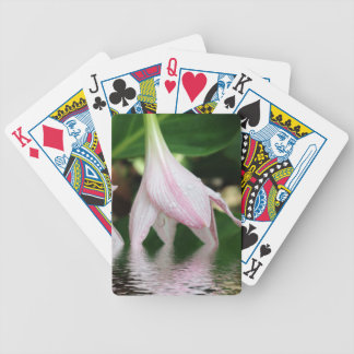 Pinky Lily Bicycle Playing Cards