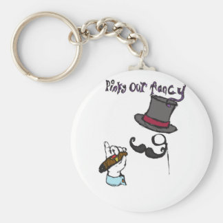 pinky out fancy keychain