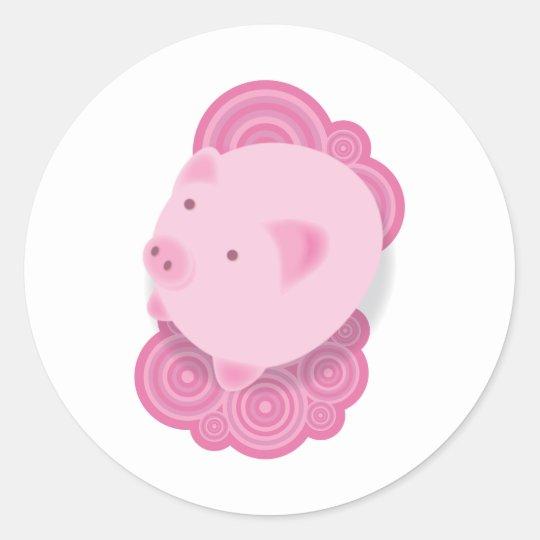 Pinky_Pig Classic Round Sticker