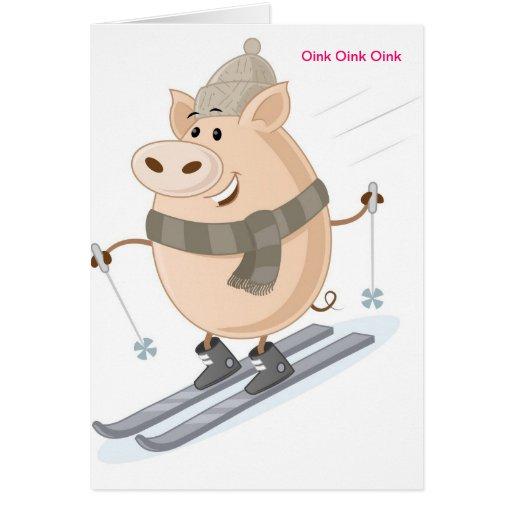 Pinky Piggy Design Card