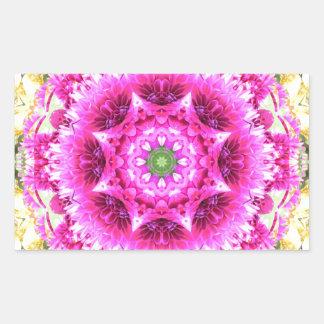 Pinky Pink Flowers Nov 2012 Rectangular Sticker