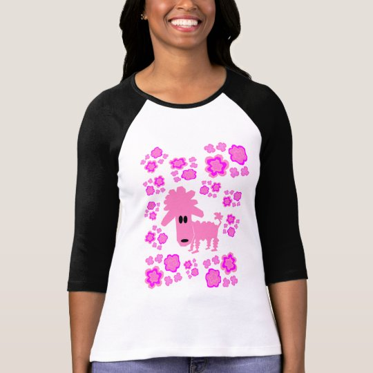 Pinky Poodle Flower Power T-Shirt