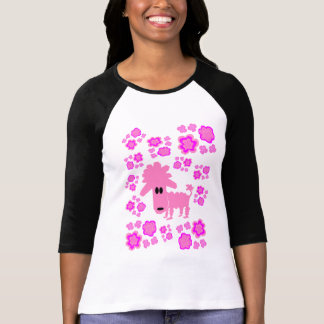 Pinky Poodle Flower Power T-shirts