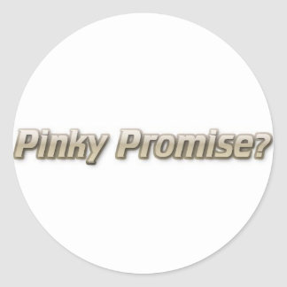 Pinky Promise Round Stickers