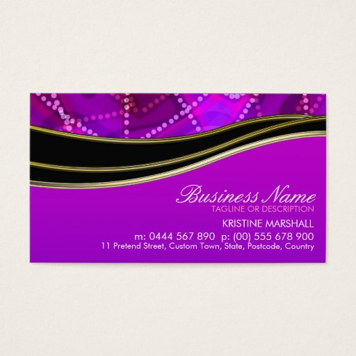Pinky Purple Black Gold Business Card