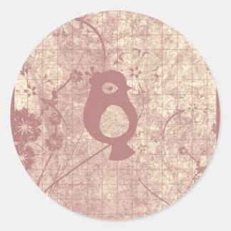 Pinky Sweet Tweet Round Sticker
