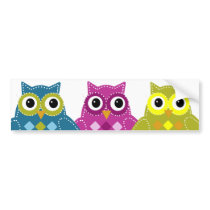 Pinky the Adorable Owl Bumper Sticker