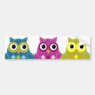 Pinky the Adorable Owl Car Bumper Sticker