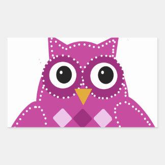 Pinky the Adorable Owl Rectangular Sticker