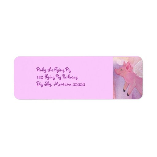 Pinky the Flying Pig Address Labels