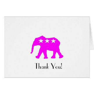 Pinky the GOP Elephant Thank You Cards