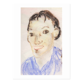 pinkyjain Self Portrait, In Pastels Postcard